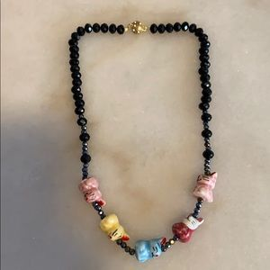 Jewelry - 2/$20 Ceramic Bunny Faceted Beads Ceramic Necklace